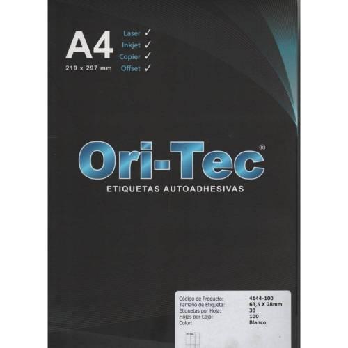 Etiquetas Orion A4 Autoadhesiva Hoja Entera X 100 Hjs