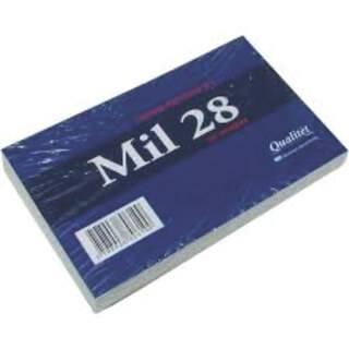 Fichas Mil28 Rayadas N° 1 Paq X 100