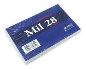 Fichas Mil28 Rayadas N° 2 Paq X 100
