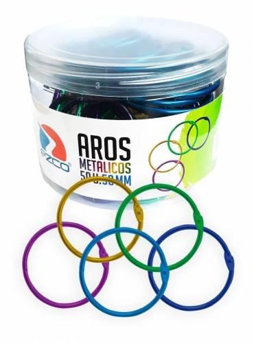 Aros P/carpeta Ezco Color 50mm Pote X 50 Un