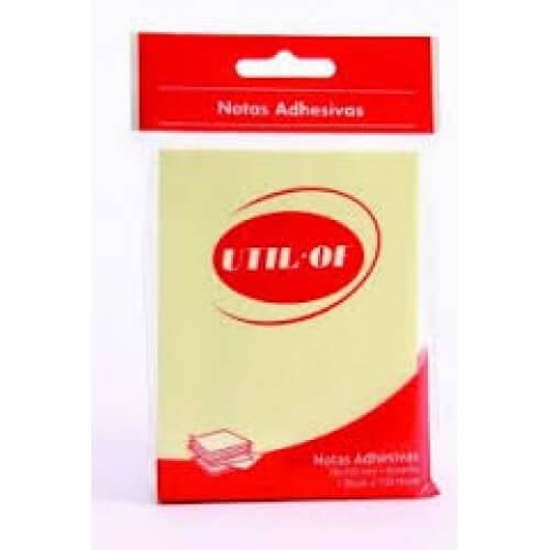 Block De Notas Adhesivas 76 X 127 Mm Util Of 100 Hjs