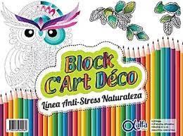 Block Alfa Art Deco Antistress 20 Hjs Naturaleza