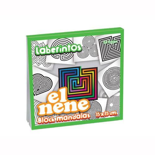Block El Nene 15x15 Mandalas Laberintos X 24 Hjs