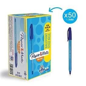 Boligrafo Paper Mate Kilometrico 100st Azul Caja X 50 Unid