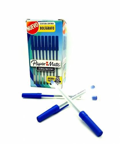 Boligrafo Paper Mate Kilometrico Azul Caja X 60 Unid 2077847