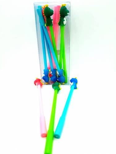 Boligrafo Fantasia Dinosaurio Cuerpo Color Caja X 12
