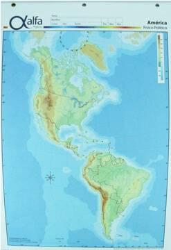 Mapa Alfa N°3 Físico Político América 40 Hjs