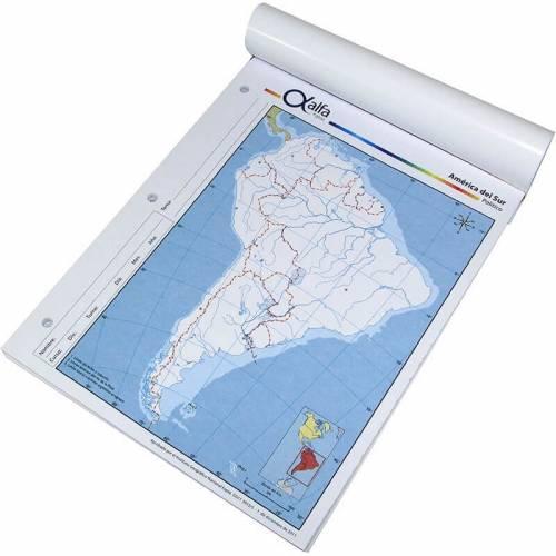 Mapa Alfa N°3 Político América Del Sur 40 Hjs