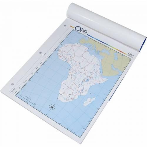 Mapa Alfa N°3 Político África 40 Hjs