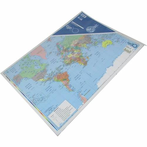 Mapa Alfa N°6 Físico Político Planisferio 25 Hjs