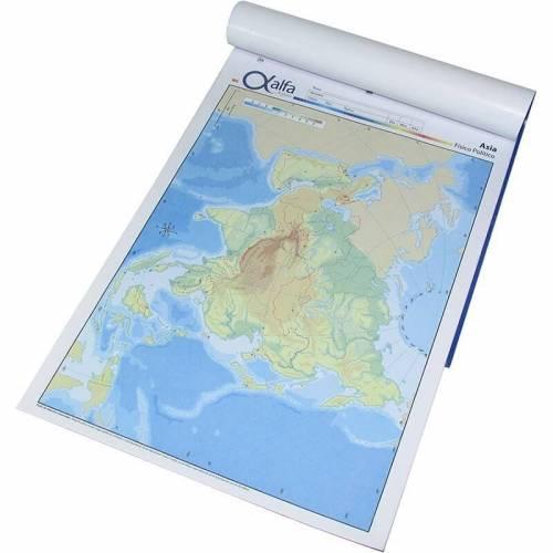 Mapa Alfa N°5 Físico Político Asia 20 Hjs