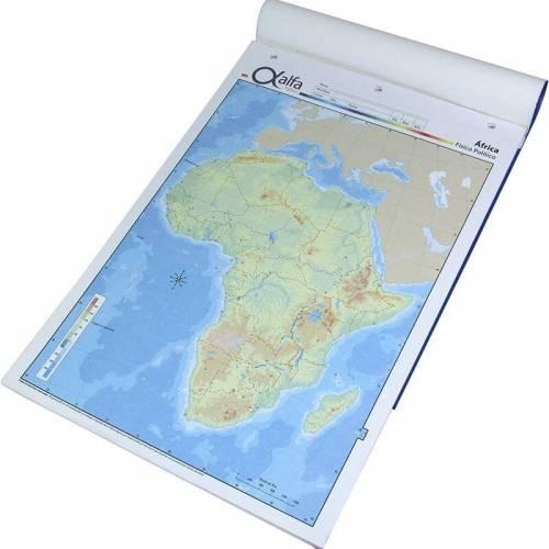 Mapa Alfa N°5 Físico Político África 20 Hjs
