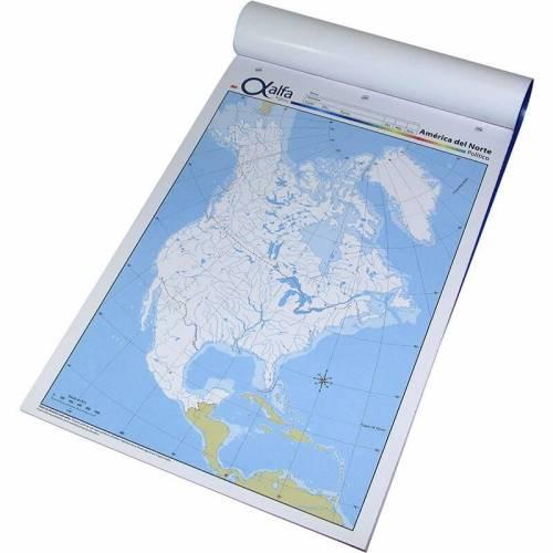 Mapa Alfa N°5 Político América Del Norte 20 Hjs