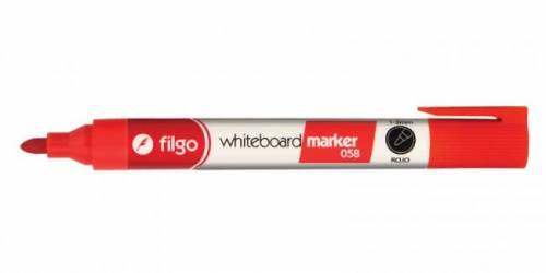 Marcador Filgo 058 P/pizarra Blanca Pta Red Rojo