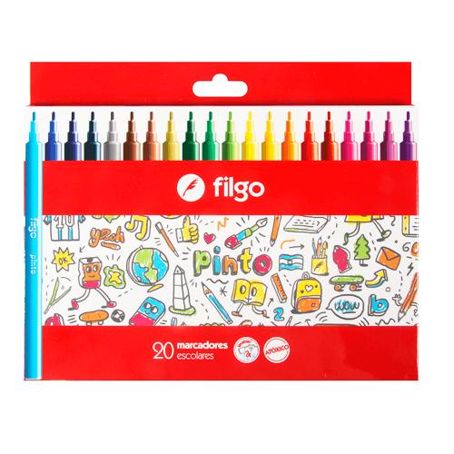 Marcadores Filgo Pinto Escolar Caja X 20 Colores