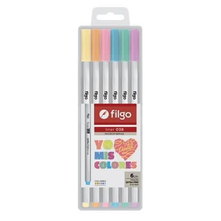 Microfibra Filgo 038 Liner 0.4mm Estuche Pastel X 6 Unid