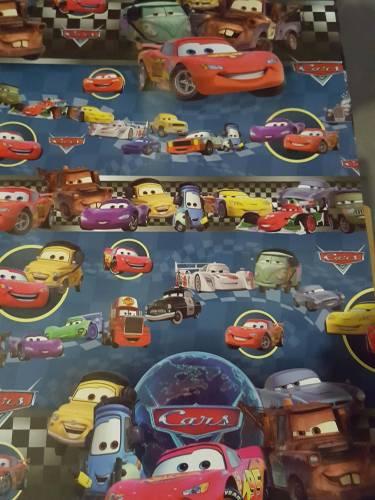 Papel Plastificado Fantasia Cars