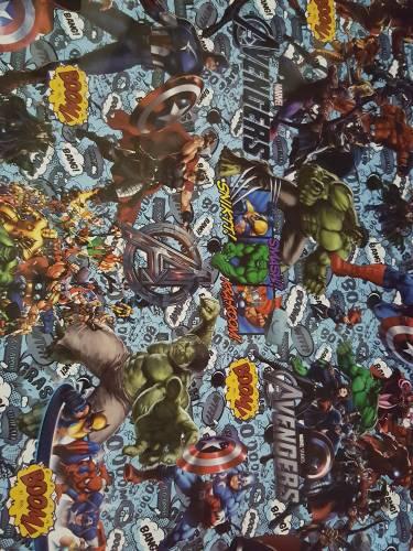Papel Plastificado Fantasia Avengers