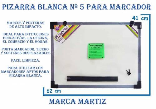 Pizarra Blanca Nº5 Marco Plastico 46x61cm