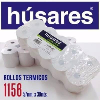 Rollo Husares P/registradora 1156 Termico 57mm X 30mts Paq X 10 U