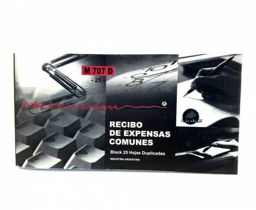 Talonario Recibo De Expensas 1/3 M707