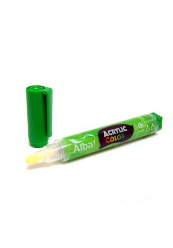 Marcador Acrilico Alba L 6mm 457 Verde Medio
