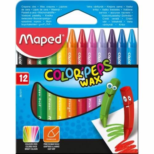 Crayones Maped Colorpeps X 12 Cortos Ref:861011