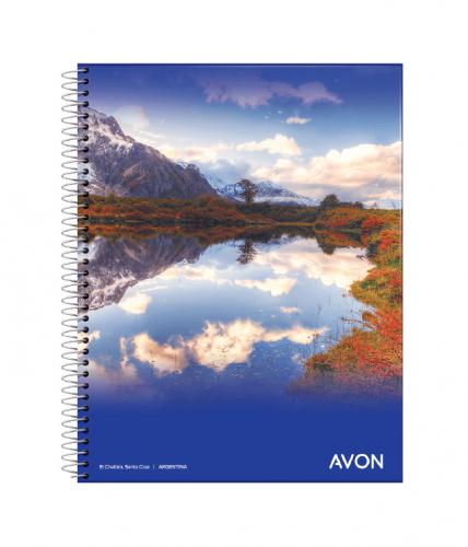 Cuaderno Avon 16x21 C/esp X 46 Hjs Cuadriculado