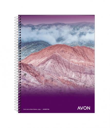 Cuaderno Avon 16x21 C/esp X 84 Hjs Cuadriculado