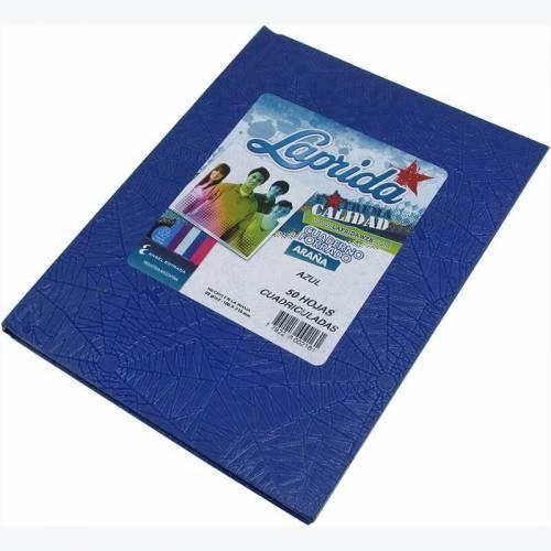 Cuaderno Laprida Forrado T/d 50 Hjs Cuadriculado Azul