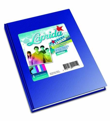 Cuaderno Laprida Forrado T/d 50 Hjs Rayado Azul