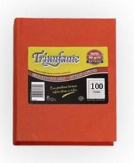 Cuaderno Triunfante Forrado T/d 100 Hjs Rayado Naranja