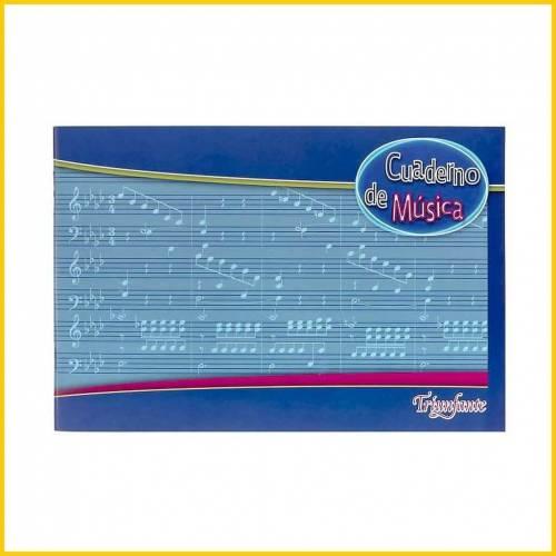 Cuaderno Triunfante P/música T/flex X 20 Hjs
