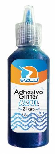 Adhesivo Glitter Ezco 21 Grs Azul