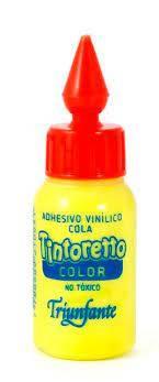 Adhesivo Tintoretto 30 Grs Color Amarillo