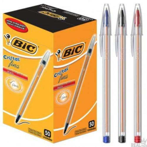 Boligrafo Bic Cristal Fina 0.8 Negro Caja X 50 Un