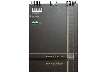 Block Arte Escocés A5 C/espiral X 70 Hjs Cuadriculado