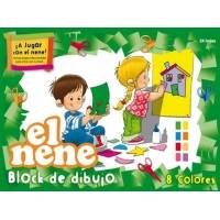 Block De Dibujo Nº6 El Nene X 24 Hjs Color