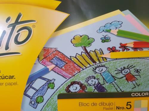 Block De Dibujo Nº5 Éxito X 40 Hjs Multicolor Pastel
