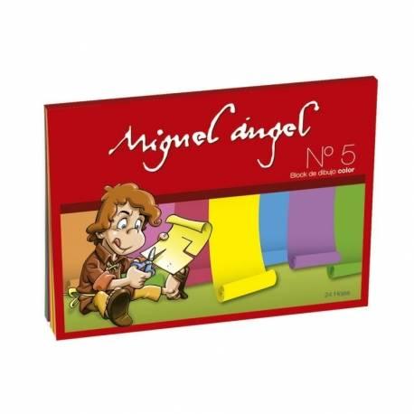 Block De Dibujo Nº5 Miguel Angel X 20 Hjs Color