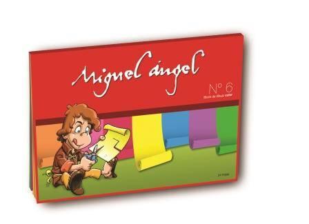 Block De Dibujo Nº6 Miguel Angel X 20 Hjs Color
