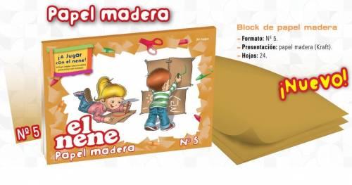 Block De Dibujo Nº5 El Nene X 24 Hjs Kraft Madera