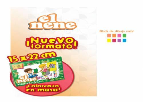 Block De Dibujo Mini El Nene X 24 Hjs Color
