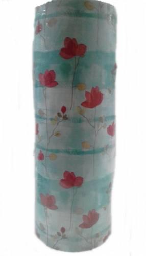 Bobina De Papel Muresco 35 X 200mts 3396 Flor Fondo Celeste
