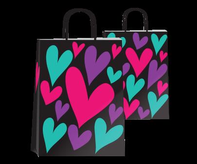 Bolsa P/regalo Romipack Amor A Color 22x30