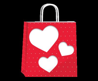 Bolsa P/regalo Romipack Amore Mio 22x24