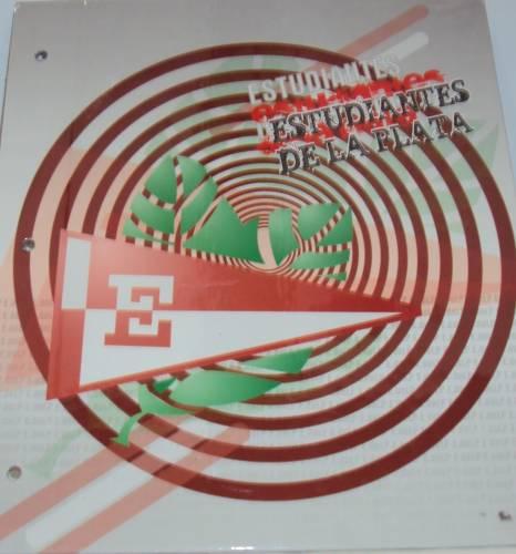 Carpeta Cartone C/cordon N°3 Estudiantes De La Plata