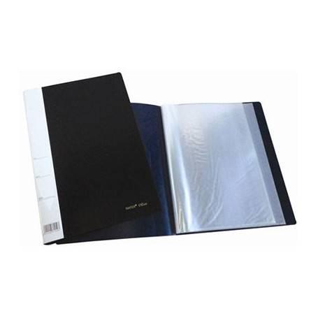 Carpeta Kenington A4 C/folios X 10 T/plast Azul/negro