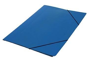 Carpeta 3 Solapas C/elástico 35x50 Plastificada Azul