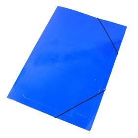 Carpeta 3 Solapas C/elástico Oficio Color Azul